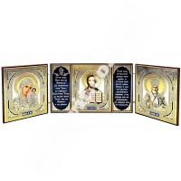 Триптих, складна дерев'яна ікона з літографією