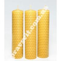 """Свічка з вощини """"Медова"""", довжина 13 см"""